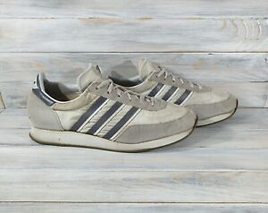 1980s Vintage Adidas Men#x27;s Used Sneakers Gray Very Rare Retro Shoes