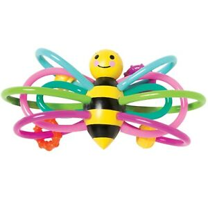 Manhattan Toy Winkel Bee Rattle and Sensory Teether Baby Toy