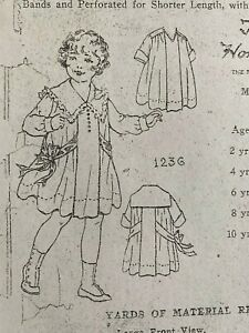 Antique Sewing Pattern Girl#x27;s Dress #1236 $8.00