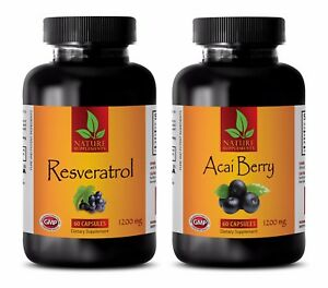 Weight loss supplements RESVERATROL – ACAI BERRY COMBO acai berry capsules $30.95