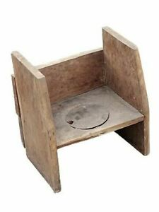 ANTIQUE EARLY PRIMITIVE 1800's CHILDS POTTY CHAIR $189.99