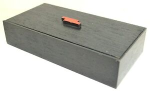 Japanese Box Wood Natural Red Black Lacquer Lid Accessory Antique $39.98