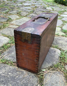 antique wooden Army 30Cal Ammo Case With brass hardware. $50.00