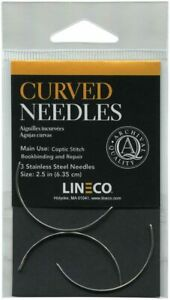 3 Pcs Stainless Steel Curved Needles for Book Binding and Repair 2.5quot; NEW $14.75