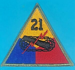 Post World War 2 21st Armored Division SSI Full Emb. Excellent Cond. #1 $15.00