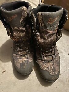 Danner Men#x27;s Vital 8quot; Mossy Oak Camo 1200G Insulated Hunting Boots Shoes