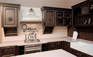 Season Everything with Love Vinyl Wall Decals Stickers