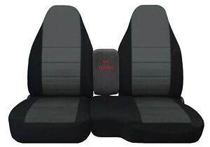 98-03 FORD RANGER 60/40 highback  car seat covers  black/charcoal center