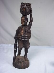 Hunting Figurine From Kenya Featuring Animals And A Flintlock Circa 1870