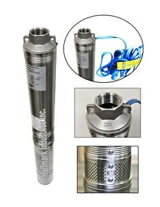 Submersible Pump, 3.5 Deep Well, 1 HP, 220V, 33 GPM, 207 ft Max, all S.S.