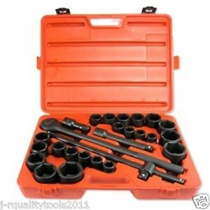 LARGE BIG HEAVY DUTY TRUCK SIZE SOCKET WRENCH TOOL SET $119.95