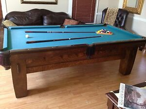Rare 1908 Pool Table Brunswick Balke Collender Co Old Mission Style
