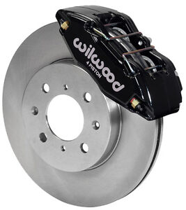 WILWOOD DISC BRAKE KITFRONT STOCK REPLACEMENTHONDA262mm ROTORSBLACK CALIPERS