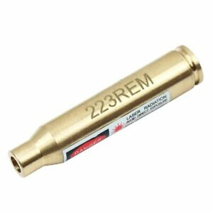 Red Laser Dot Boresighter .223 REM Brass Laser Bore sight for Rifle Gun