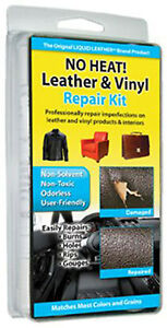 No Heat Liquid Leather amp; Vinyl Repair Kit Fix Holes Burns Rips Gouges