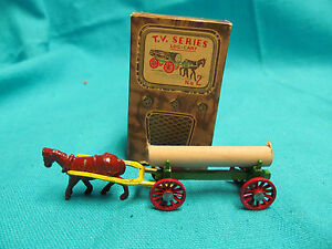1950 s diecast tv series no 2 log cart with