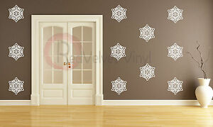 Snow flakes, 12 count. vinyl wall art decal