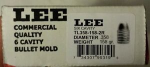 Lee Precision 6 Cavity Bullet Mold Handgun 358 dia. TL358-158-2R #90319 NIB