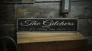 Custom Wedding Family Sign - Rustic Hand Made Vintage Wooden Sign ENS1000362