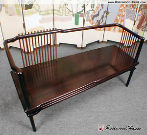 Custom Design Instrument Solid Rosewood Harmony Seating Bench Mahogany Obsidian