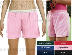 Champion Ladies Mesh Shorts Athletic Workout Running Womens Wicking Dri Fit S-2X