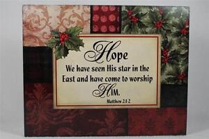 Word Block #x27;Hopewe Have Seen His Star In The East....Matthew 1 2 #18716 NEW