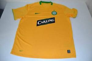 NIKE CELTIC FOOTBALL CLUB CARLING YELLOW 1888 DRY FIT SHIRT MENS SIZE 2XL XXL