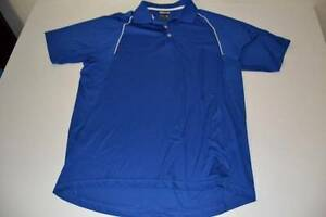 ADIDAS SPORTS FITNESS GOLF BLUE DRY FIT POLO SHIRT MENS SIZE LARGE L