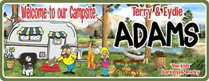 Custom Name Sign RV Camping Supplies Personalized Sign Decor Funny Camping Signs