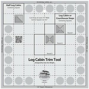 Creative Grids Log Cabin Trim Tool for 8quot; Finished Block Sewing amp; Quilting Ruler $22.99