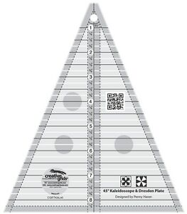 Creative Grids 45 Degree Kaleidoscope amp; Dresden Plate Triangle Sewing Ruler $22.99