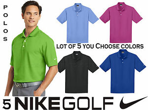 Lot 5 Nike Golf Men's Dri Fit Micro Pique Polo Sport Shirt S-XL Fathers Day Gift