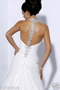 MAGGIE SOTTERO MIDGELY 💕  $1699 12 DIAMOND WHITE JEWEL NECK BACK WEDDING DRESS