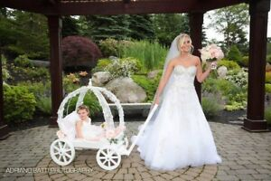 Large Angel Carriage in Gloss White - Wedding Carriage for Children
