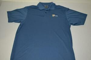 ADIDAS GOLF THE PRESIDENTS CUP BLUE DRY FIT POLO SHIRT MENS SIZE LARGE L