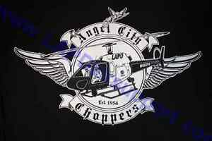 LAPD Los Angeles Police Air Support Division T Shirt Angel City Chopper Logo $17.95