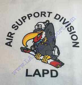 LAPD Los Angeles Police Air Support Division T Shirt Buzzard Logo Tee NEW $17.95