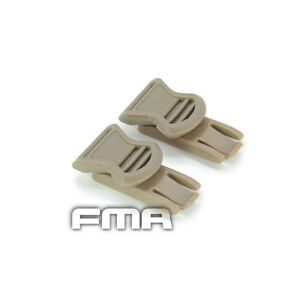19mm Tactical Goggle Swivel Buckle  Clips For Helmet Side Rail ACH MICH Mount