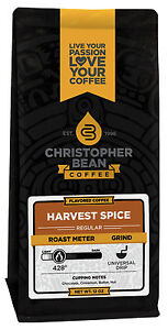 Christopher Bean Coffee Harvest Spice Flavored Coffee 1-12-Ounce Bag