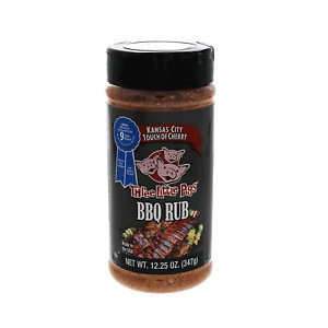 New 'Three Little Pigs'€ Touch of Cherry BBQ Rub  12.25oz Shaker Jar - Made in