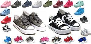 New Lace Up Low Top Toddler Baby Boy Girls Canvas Shoes Walking Comfort 8 Colors $14.95