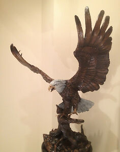 Duane Scott BRONZE BALD EAGLE STATUE