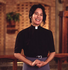 Women#x27;s Pastor Tab Collar Clergy Clerical Shirt Black Short Sleeves All Sizes