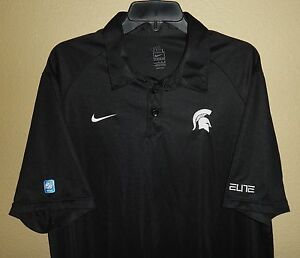 EUC MENS L LG NIKE FIT-DRY MICHIGAN STATE SPARTANS ELITE NCAA COACHES POLO SHIRT