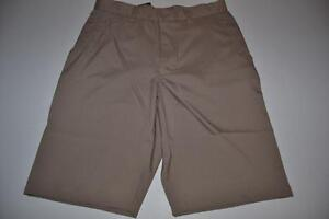 MATTE GREY GOLF BROWN KHAKI DRY FIT SHORTS MENS SIZE 30 NEW