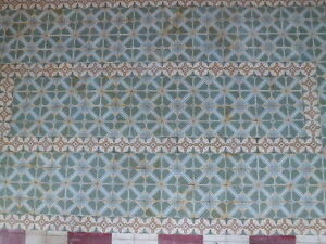 Antique Encaustic Tiles Panel 496 pcs 175¨ x 91¨ Floor or Wall (cod 9)