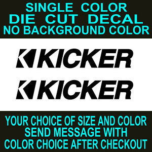 2x - Kicker Car Audio Vinyl Decal, Die Cut, Car, Truck, Window sticker