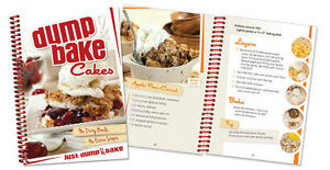 Dump & Bake Cakes Cookbook color photos One Pan Mixing tasty cake recipes+ NEW