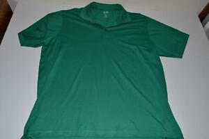 ADIDAS GOLF GREEN DRY FIT POLO SHIRT MENS SIZE 2XL XXL