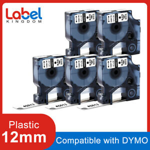 5 PK 45013 S0720530 Label Tape Compatible for DYMO D1 LabelManager 12mm